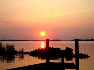 Abádszalók naplemente