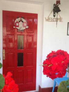 Borostyán apartmanok bejárat